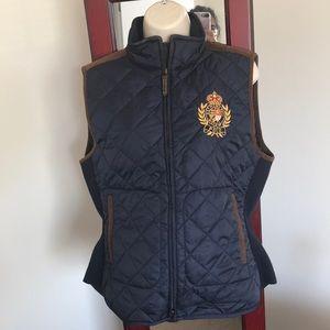 Navy Blue Polo Vest